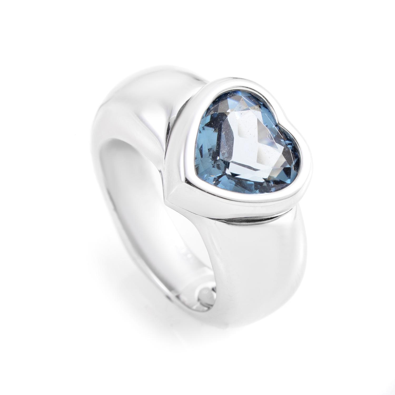 Piaget 18K White Gold Topaz Heart Ring