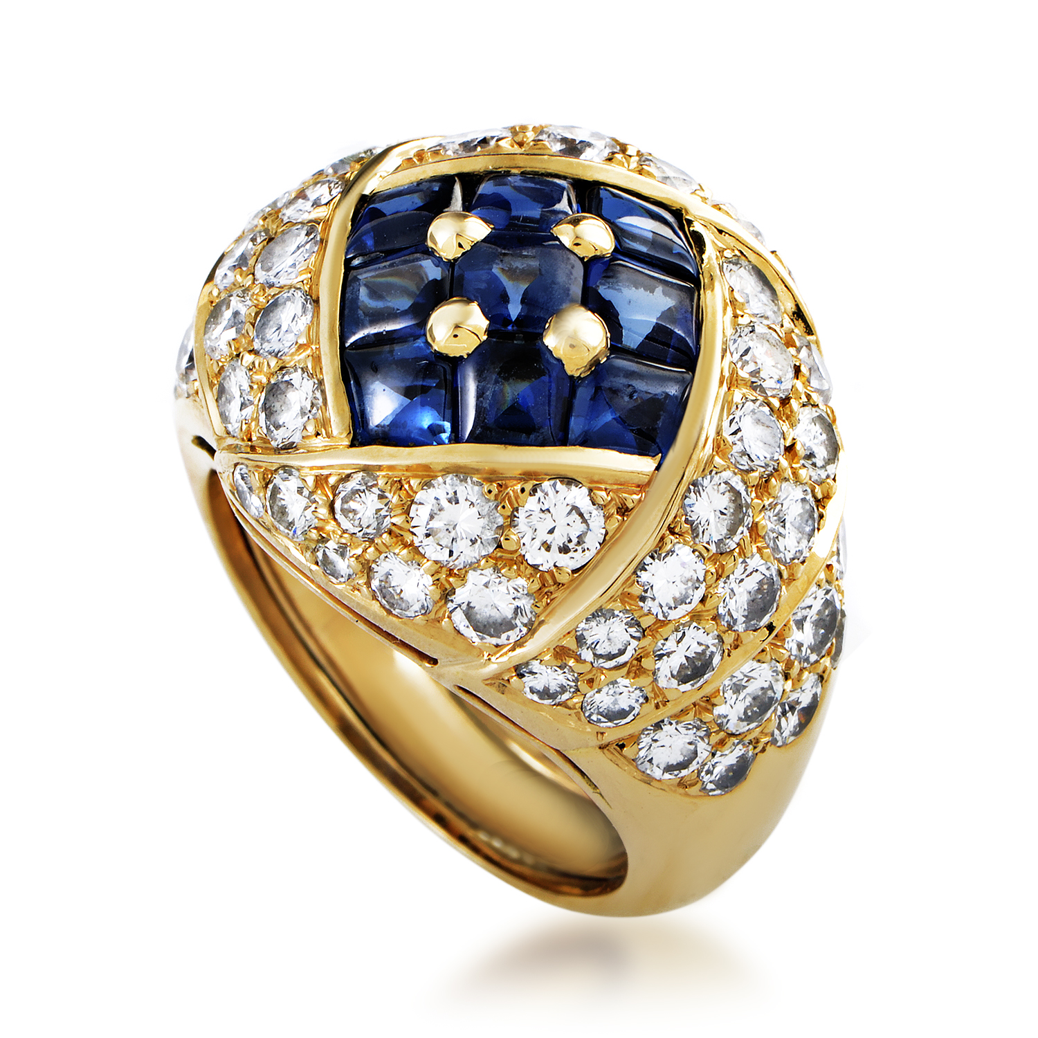 Piaget Women's 18K Yellow Gold Diamond & Sapphire Ring