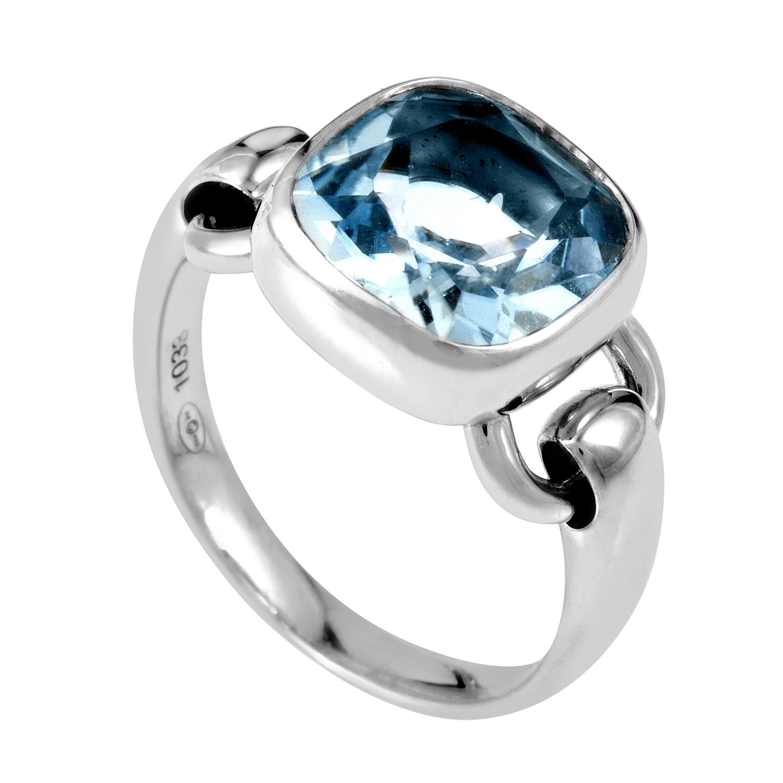 18K White Gold Topaz Ring PPD2140ZA