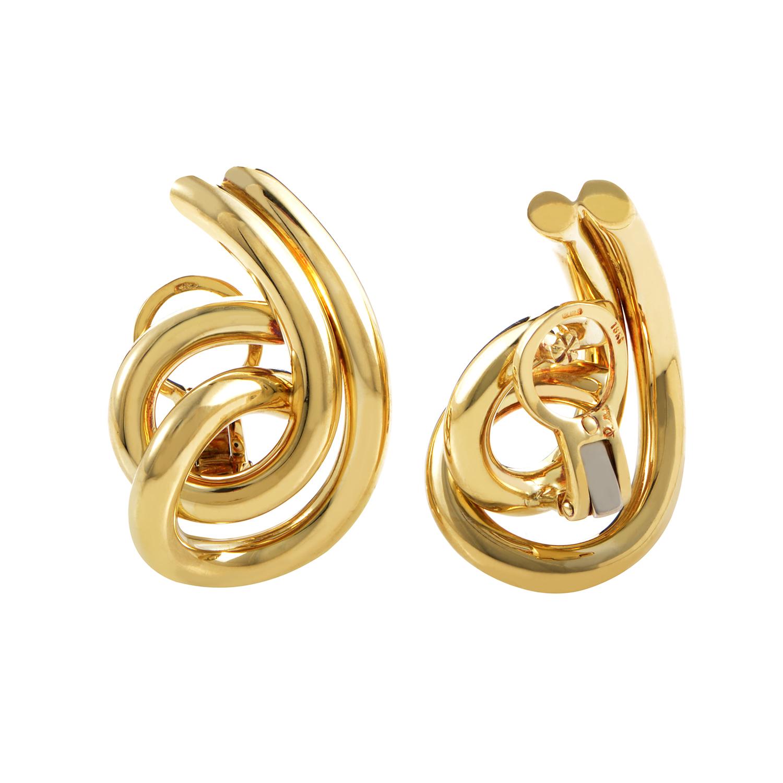 pomellato 18k yellow gold clip on earrings ebay