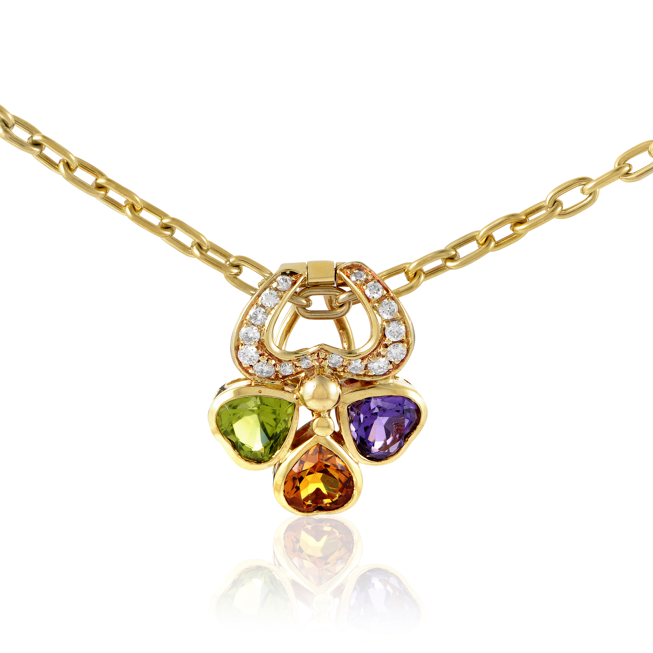 Pomellato Women's 18K Yellow Gold Diamond & Multi-Gemstone Pendant Necklace