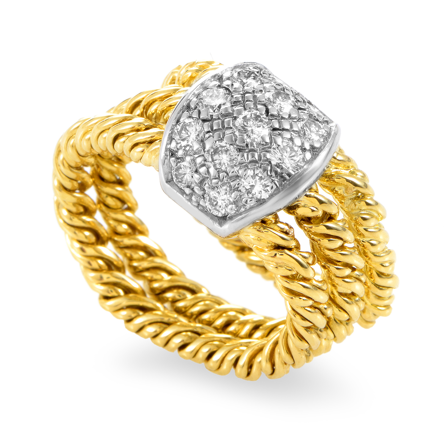 Pomellato Women's 18K Yellow Gold Multi-Tone Gold Diamond Ring
