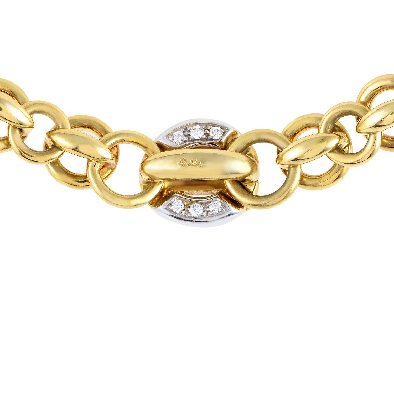 Pomellato Women's 18K Multi-Tone Gold & Diamond Link Collar Necklace