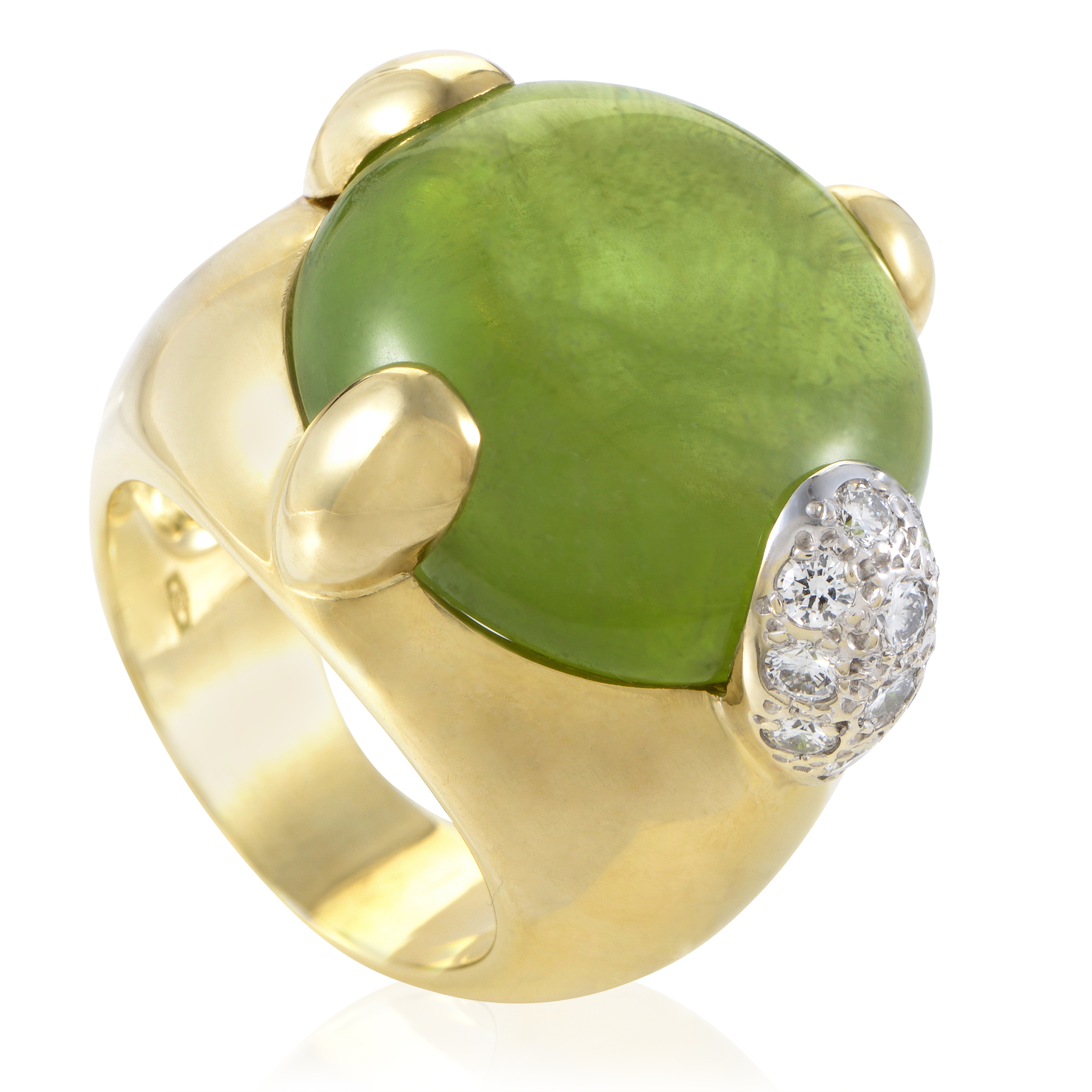Pomellato Women's 18K Yellow Gold Diamond & Peridot Ring