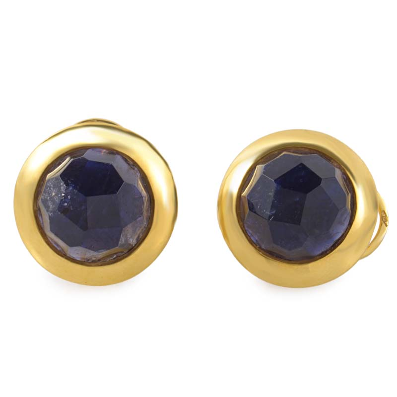 Narciso 18K Yellow Gold Iolite Earrings O.B253/JT/PAM
