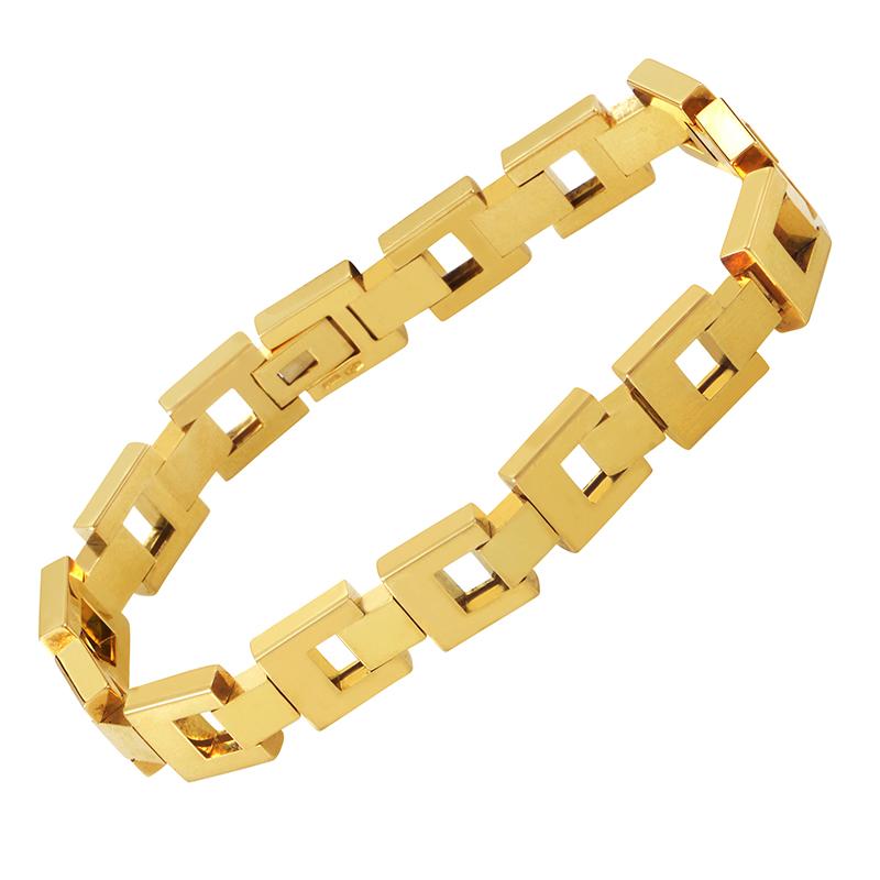 18K Yellow Gold Petite Link Bracelet