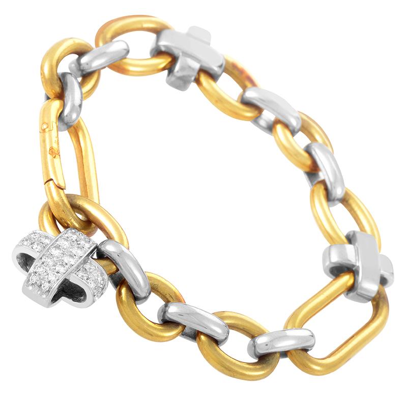 Pomellato 18K Multi-Gold Diamond Link Bracelet