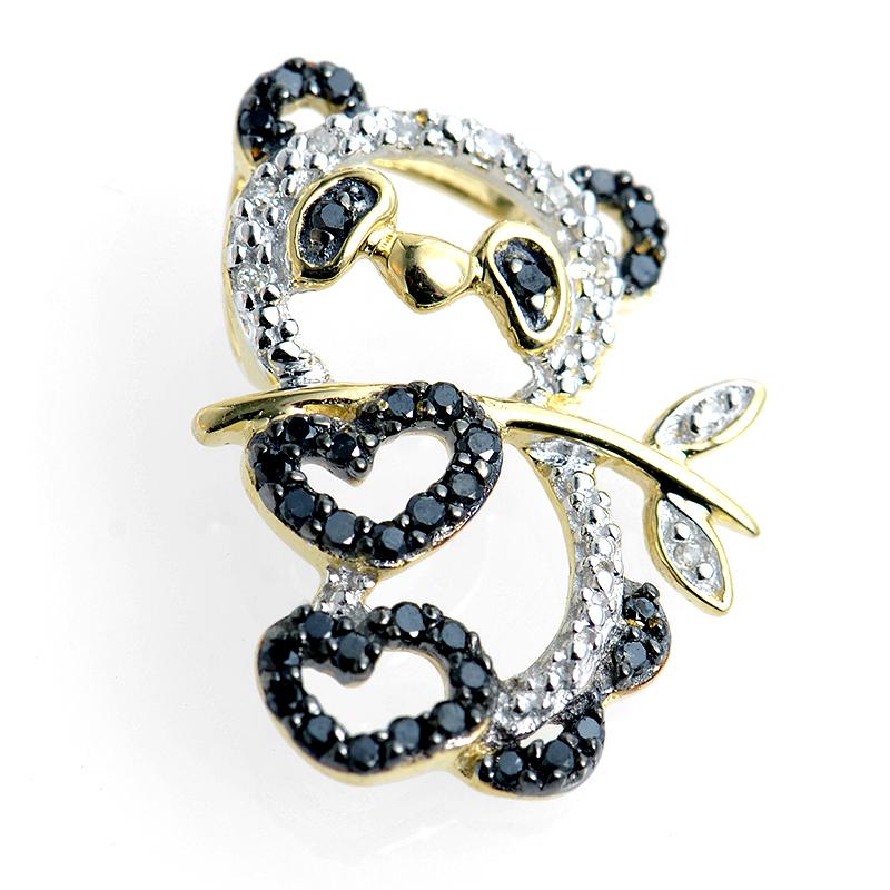 14K Diamond Panda Chainless Pendant
