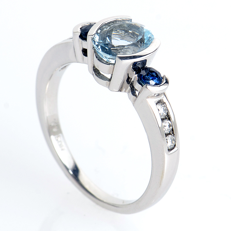 14K White Gold Marquise-Cut Tanzanite Ring PSAG26-081712