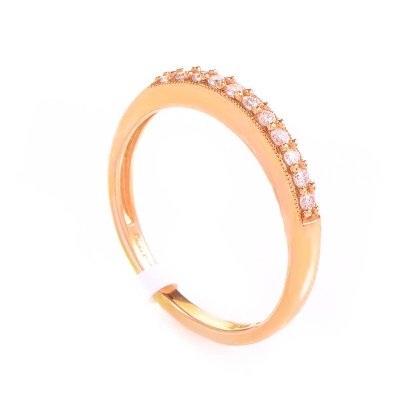 10K Rose Gold Diamond Band Ring LC1-01196