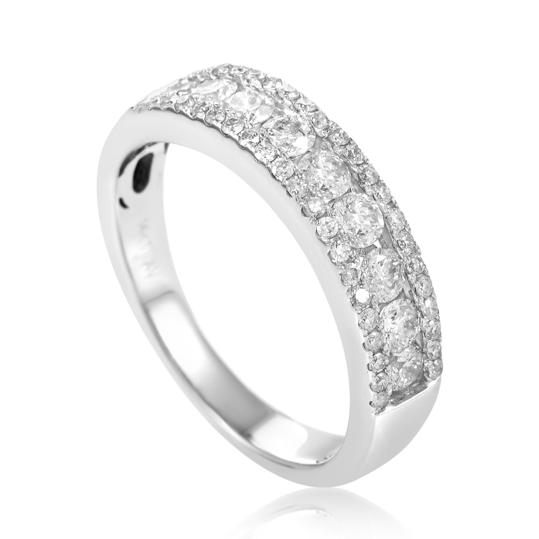 Women's 14K White Gold Diamond Pave Band Ring ALR-9853W