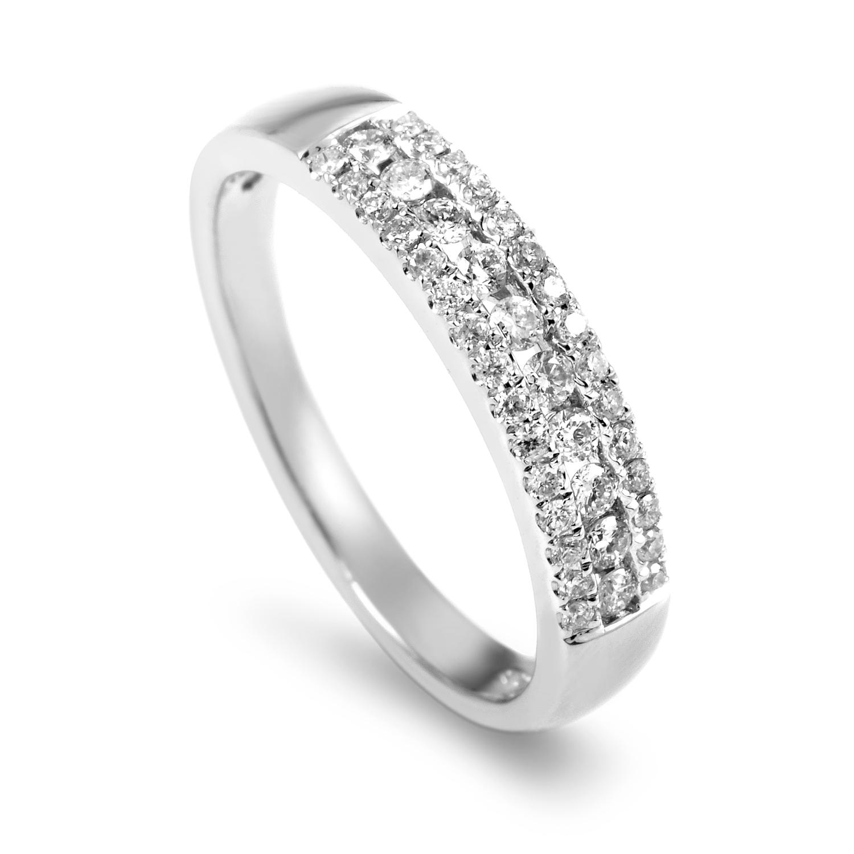 Women's 14K White Gold Diamond Band Ring ALR-9855W