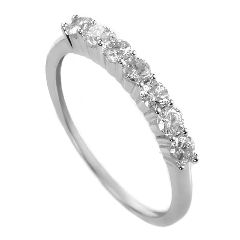 14K White Gold Diamond Band Ring ALR-9865W