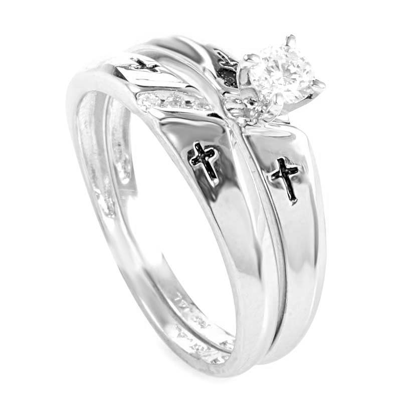 14K White Gold & Diamond Bridal Set BR1028W