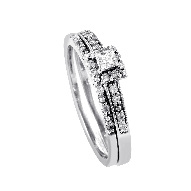 14K White Gold Diamond Bridal Set BR1032W