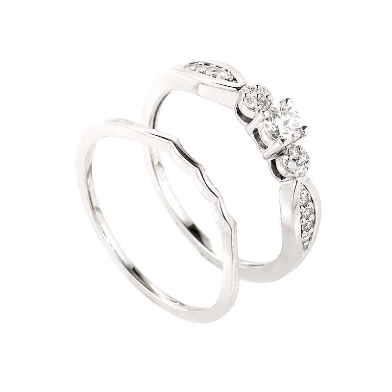 simple 14k white gold bridal set ebay