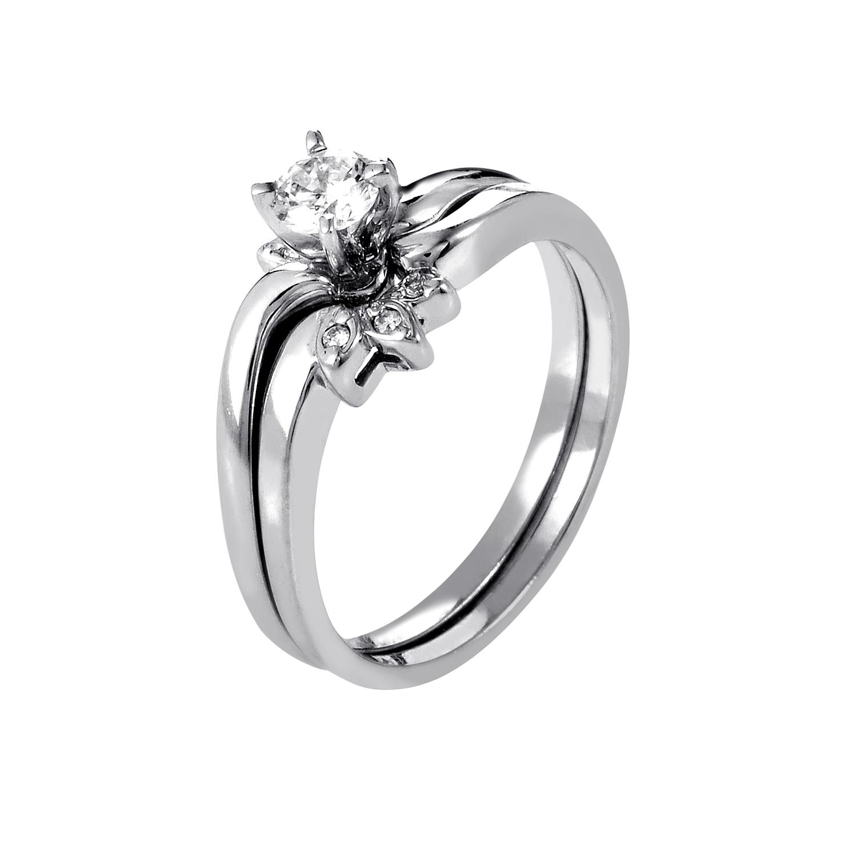 14K White Gold Diamond Bridal Set BR1051W