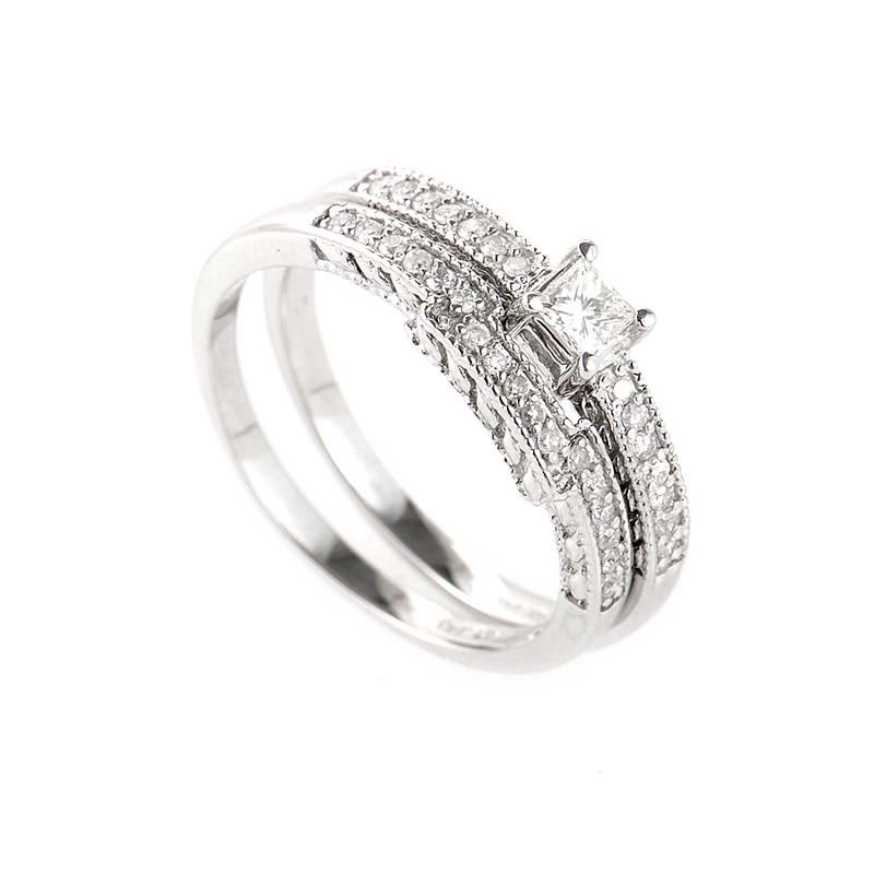Enchanting 14K White Gold Diamond Bridal Set