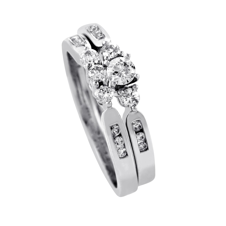 14K White Gold Diamond Bridal Set BR1057W