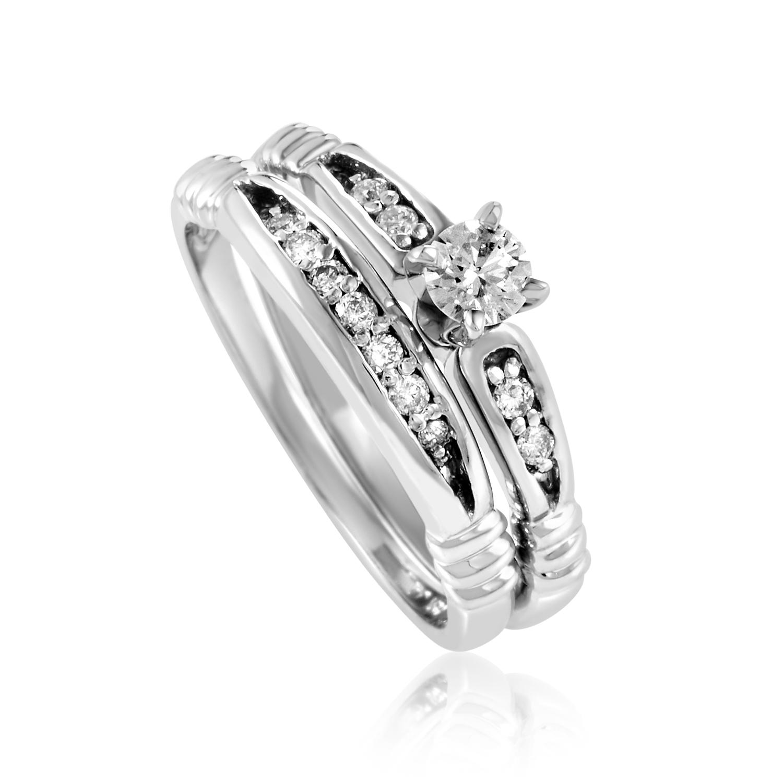 14K White Gold Diamond Bridal Set BR1138W