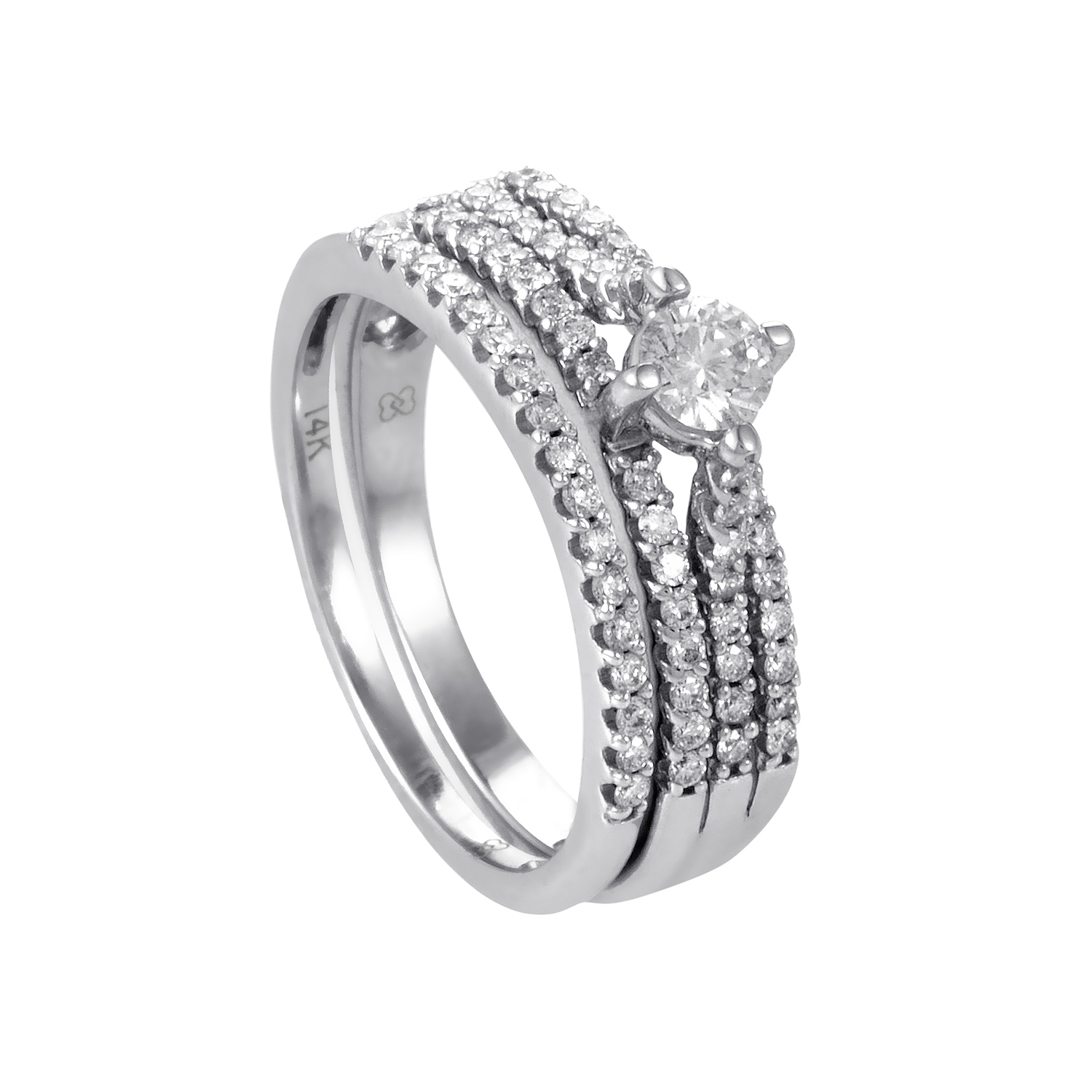 14K White Gold Diamond Bridal Set BR1185W