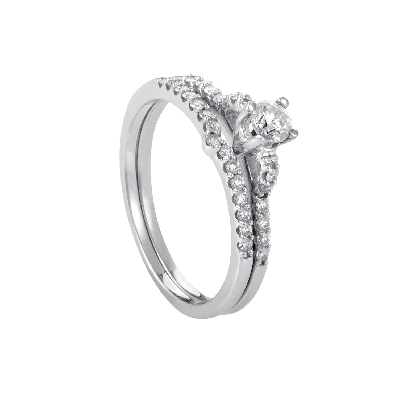 14K White Gold Diamond Bridal Set BR1189W