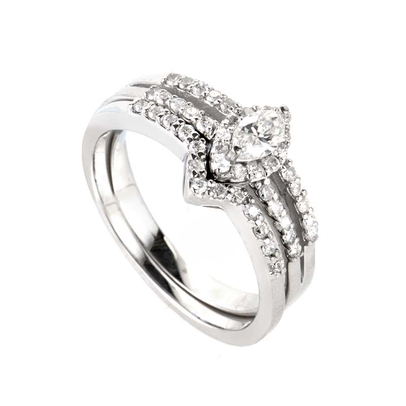 14K White Gold Diamond Bridal Set BR1302W