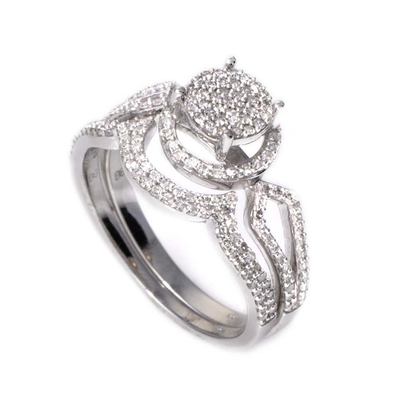 14K White Gold Diamond Bridal Set BR1407W