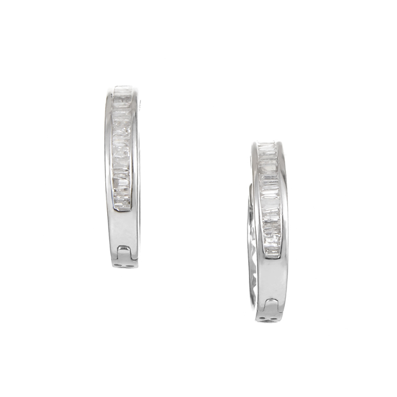 14K White Gold Diamond Earrings ED-7508W