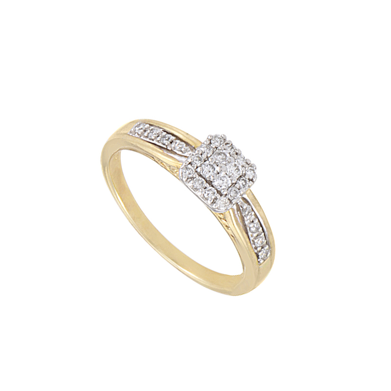 10K Yellow Gold Diamond Engagement Ring EN1-02473