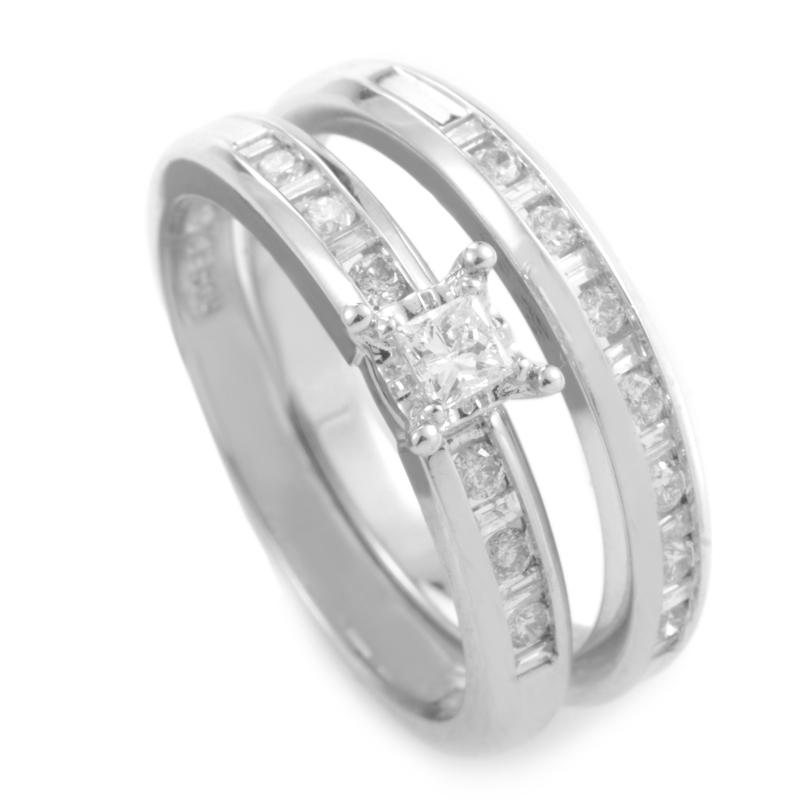 10K White Gold Diamond Bridal Set EN1-05875W