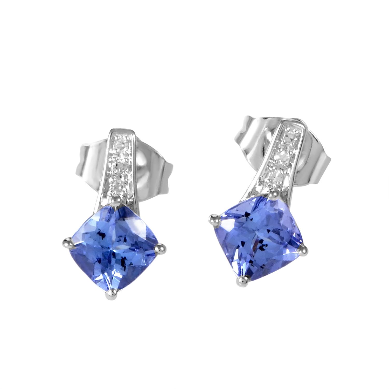 14K White Gold Tanzanite & Diamond Earrings ER4-14813WTZ