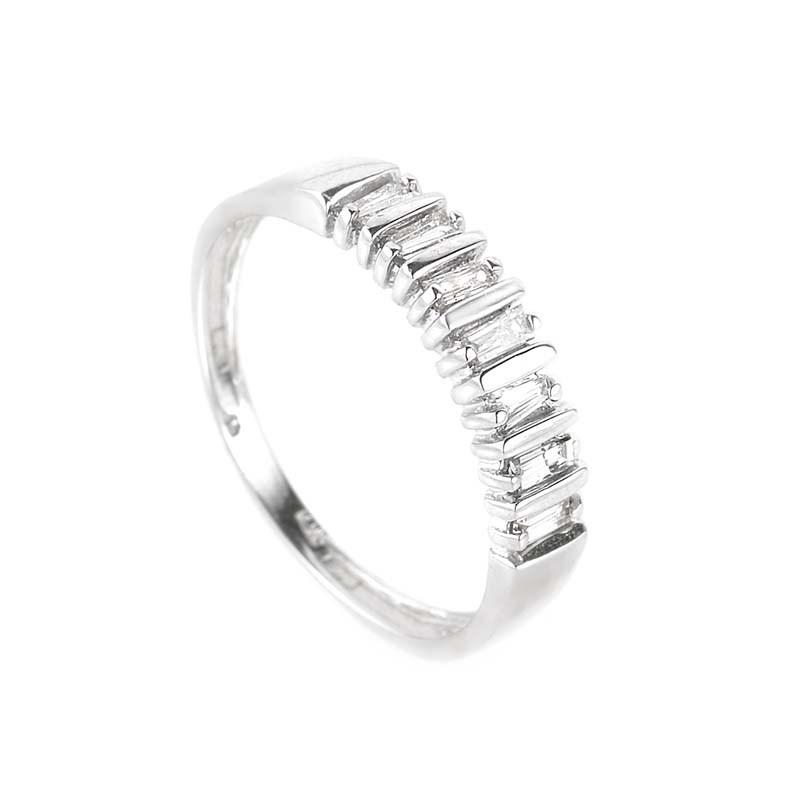 10K White Gold Diamond Band Ring LB1-02312