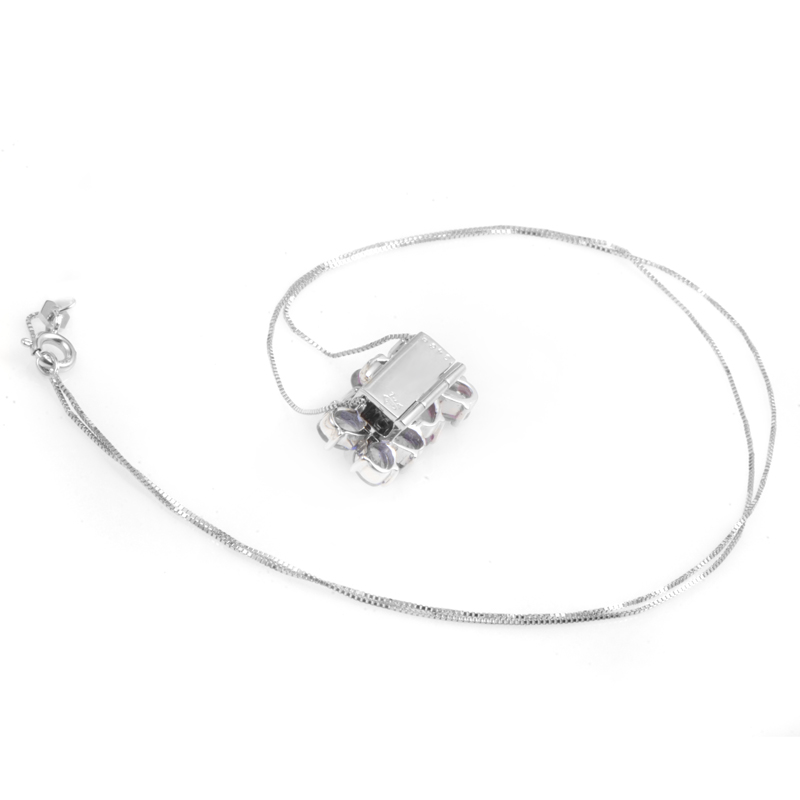 Tanzanite Necklace White Gold Necklaces 14k White Gold