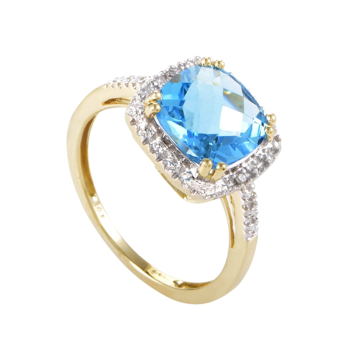 Women's 14K Yellow Gold Diamond & Topaz Ring RC4-10316YTOP