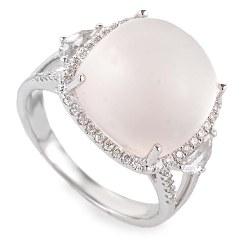 14k white gold moonstone ring rm3040wmst ebay
