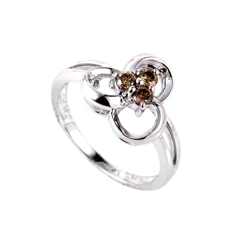 14K White Gold Cognac Diamond Ring RM7568W-BRN