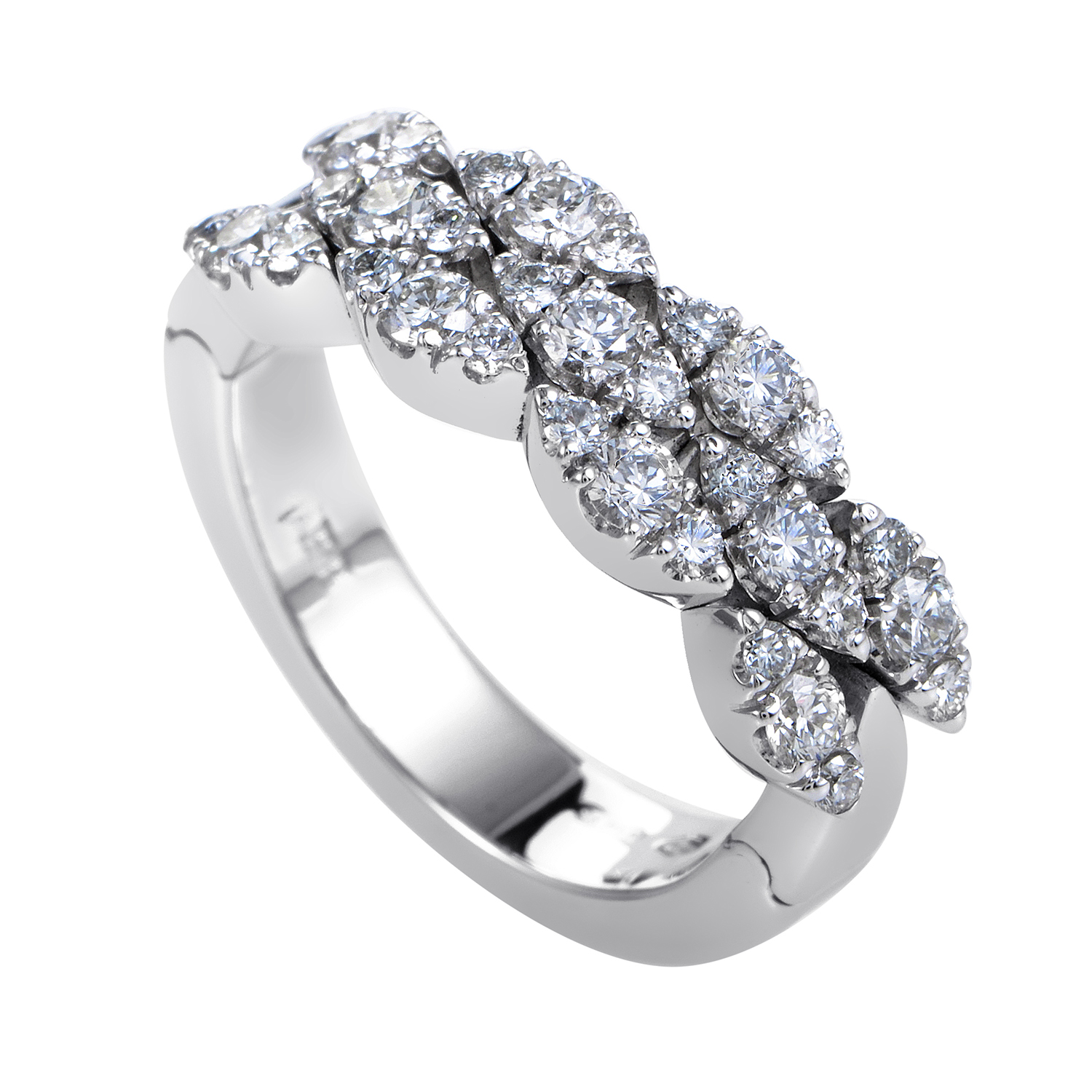 Ghirlanda Women's 18K White Gold Diamond Band Ring