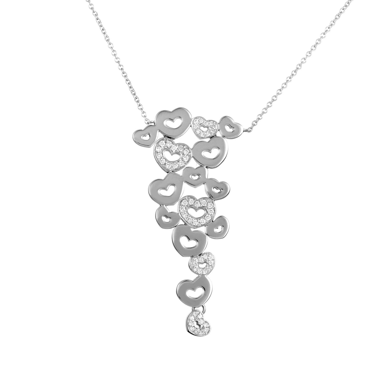 Simboli D'Amore 18K White Gold Diamond Pendant Necklace