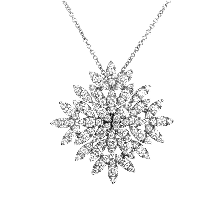 Ghirlanda Women's 18K White Gold Diamond Pendant Necklace