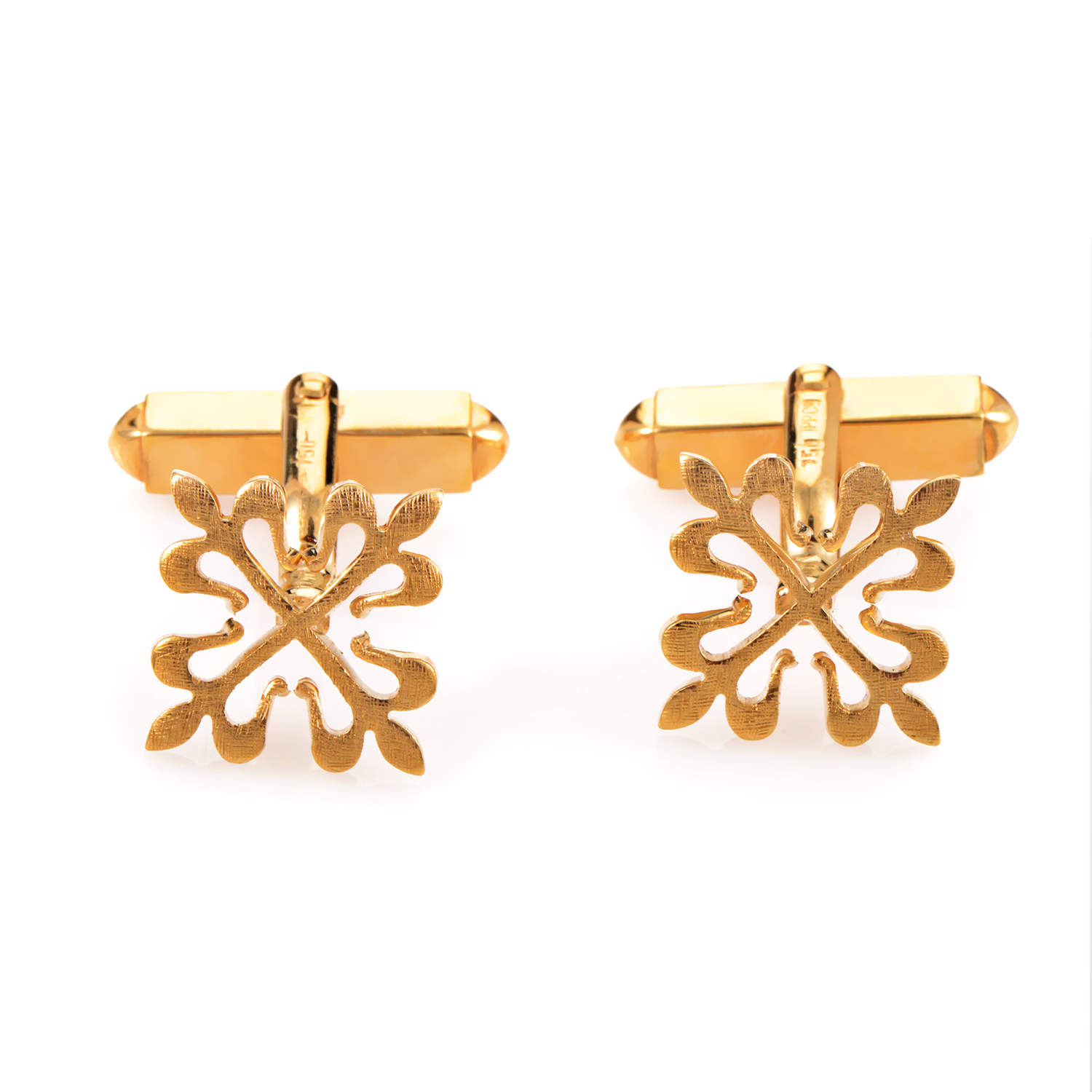 Patek Philippe Calatrava 18K Yellow Gold Cufflinks