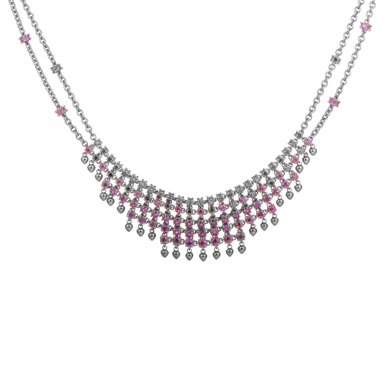Paul Morelli Diamond & Ruby Necklace