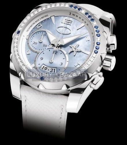 Pershing Chronograph 002 with Diamonds PF602880-01