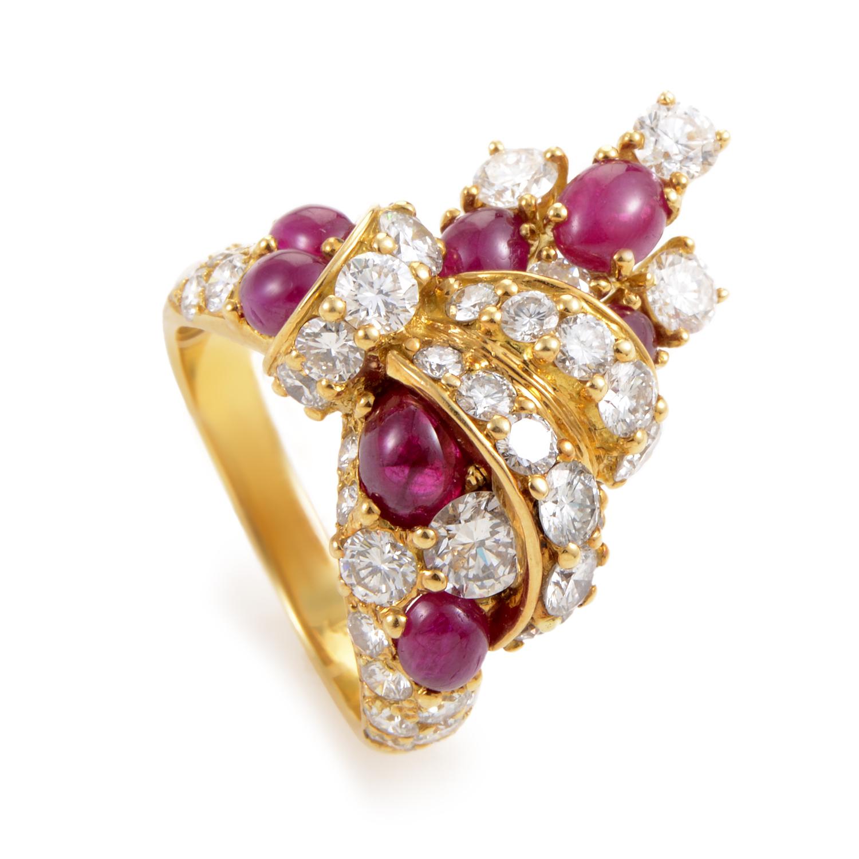 Piaget Women's 18K Yellow Gold Diamond & Ruby Ring