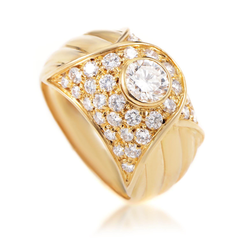 Piaget Women's 18K Yellow Gold Diamond Band Ring AK1B4530