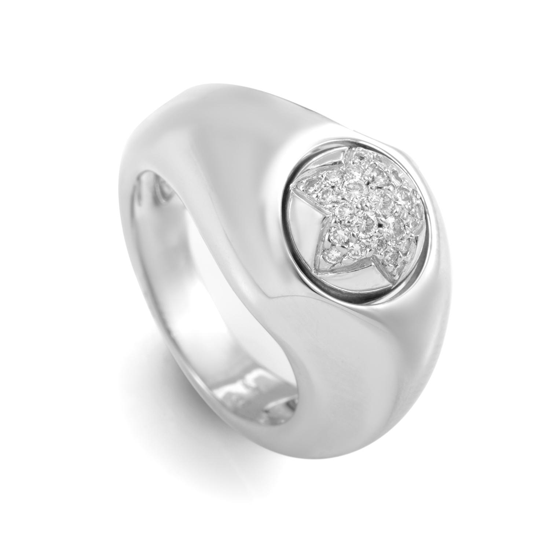 Piaget 18K White Gold Diamond Star Ring