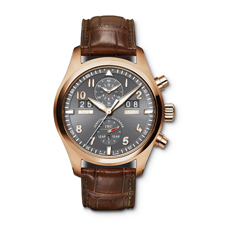 Pilot's Watch Spitfire Perpetual Calendar Digital Date-Month IW379105 (Rose Gold)