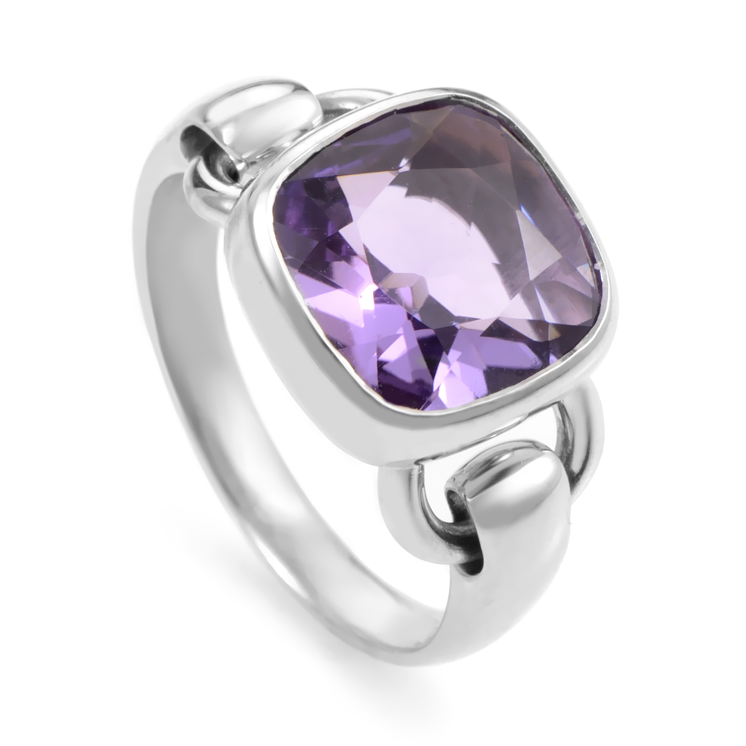 Womens 18K White Gold Amethyst Ring PPD2660