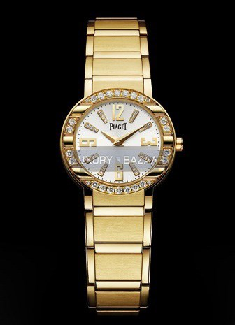Polo Diamond Watch (YG-Diamond / White / Bracelet)