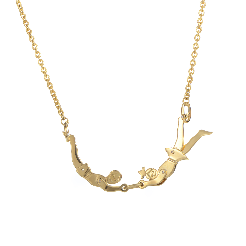 Pomellato 18K Yellow Gold Acrobats Necklace